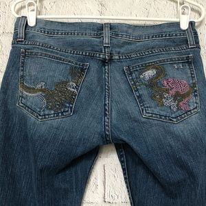 Women's Habitual Embroidered Rocks On Jeans
